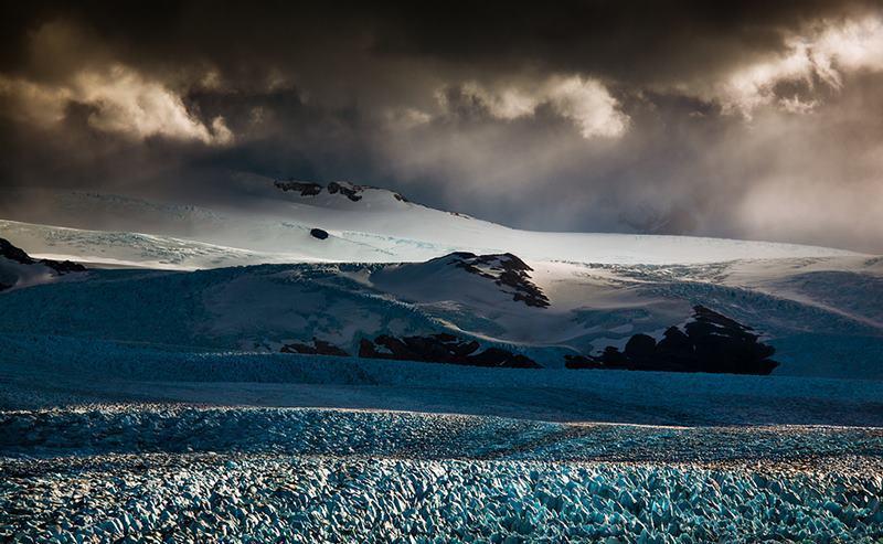 Perito Moreno Rupture Clouds
