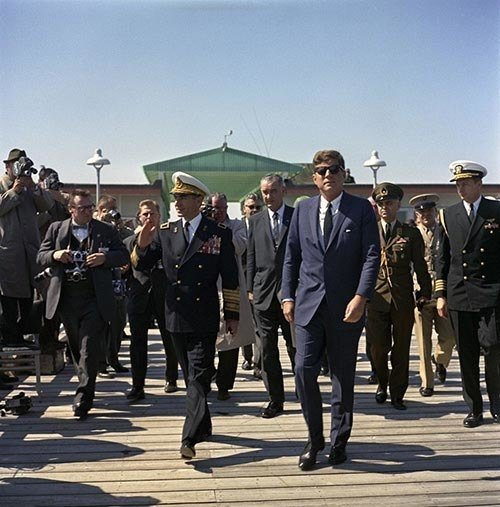 JFK Walking With Reza