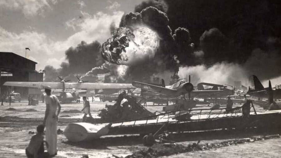 USS Shaw Exploding During Pearl Harbor