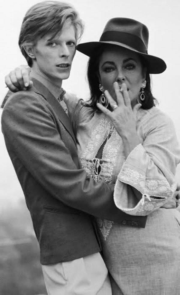 David Bowie And Liz Taylor
