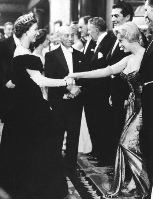 Vintage Hollywood Marilyn Monroe Meets The Queen