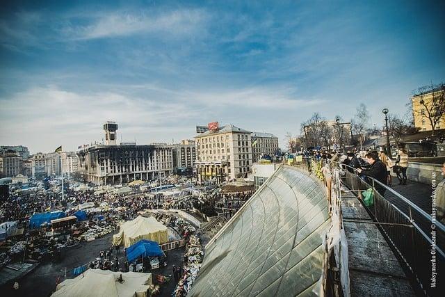 Anti-Government Protests In Kiev.