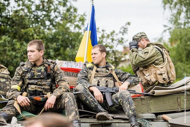 Ukrainian Militia Post In Slovyansk.