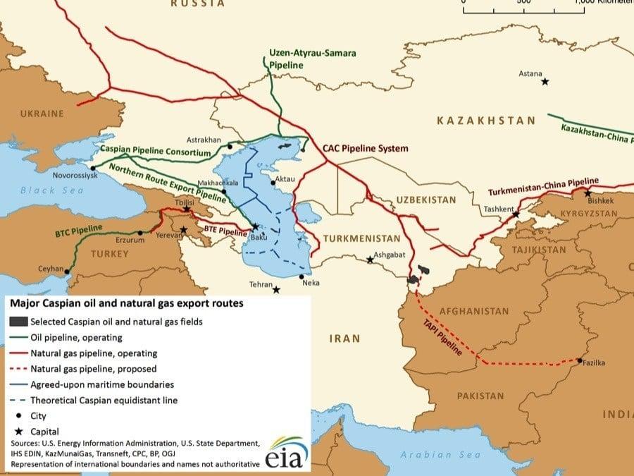 Turkmenistan Pipeline Map