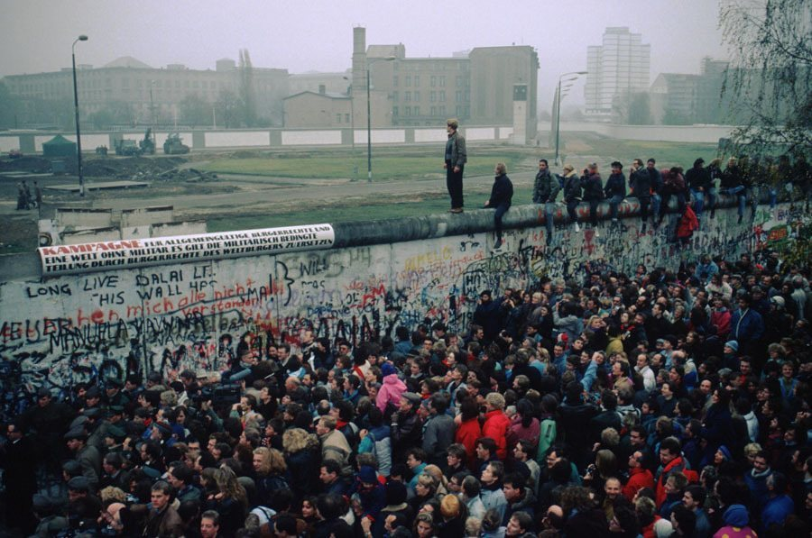 Berlin Wall Standing On Top