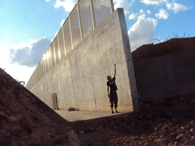 US-Mexico Border Moat Construction