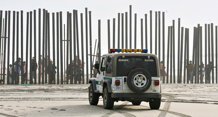 US-Mexico Border Patrol Jeep