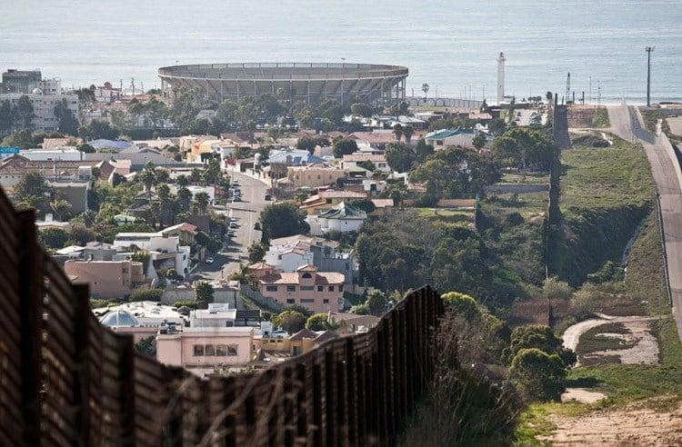 US-Mexico Border Tijuana Fence