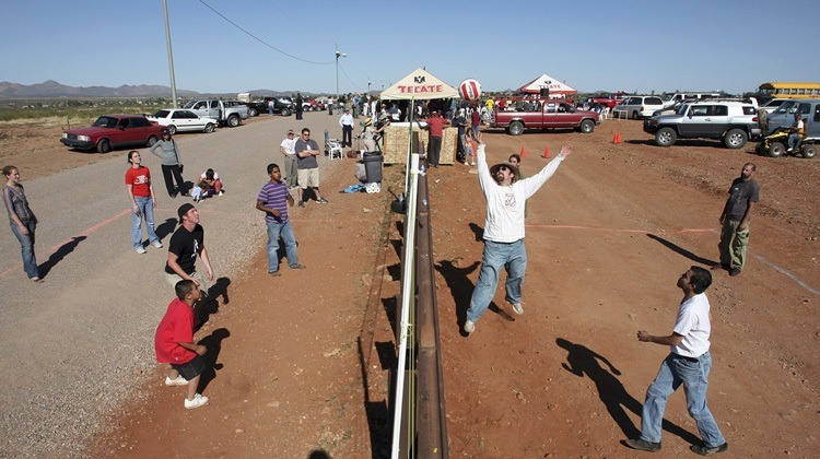 US-Mexico Border Volleyball Game
