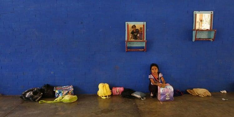 US-Mexico Border Blue Wall Girl