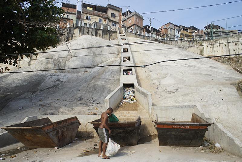 Favelas Garbage Chute