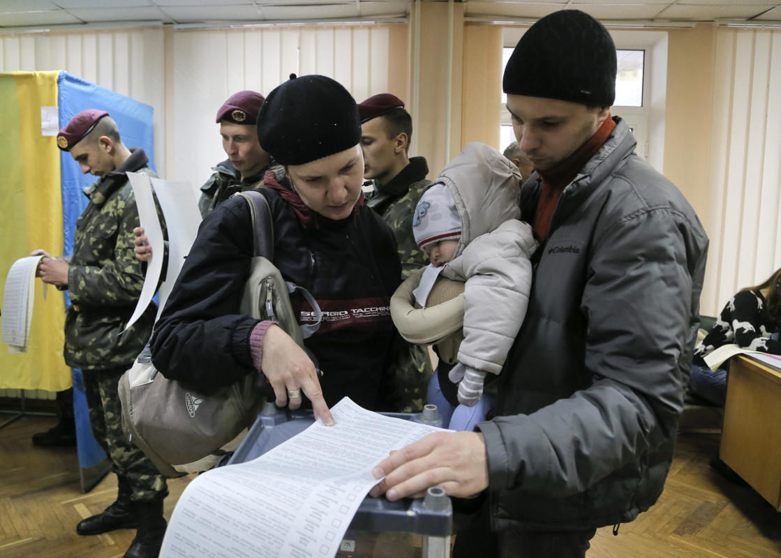 Ukrainians Voting In Parliamentary Elections.