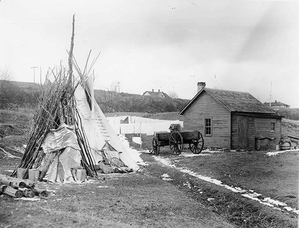 US Indian Assimilation Policy Tepee