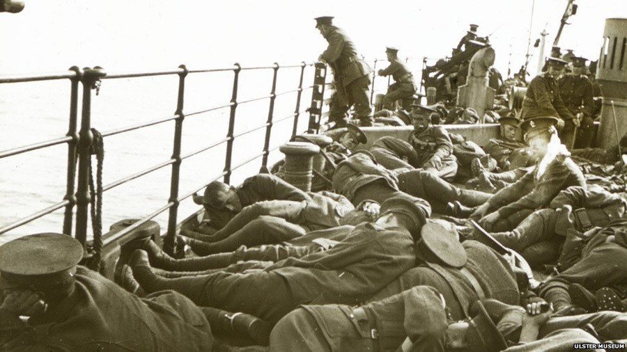 Uncovered World War One Photos Asleep On Deck