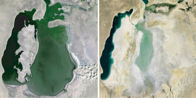 Google Earth Images Of The Aral Sea