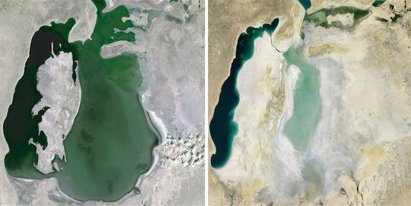 google earth aral sea