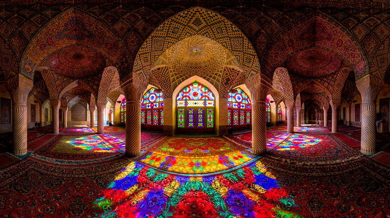 Beautiful Mosques Rainbow