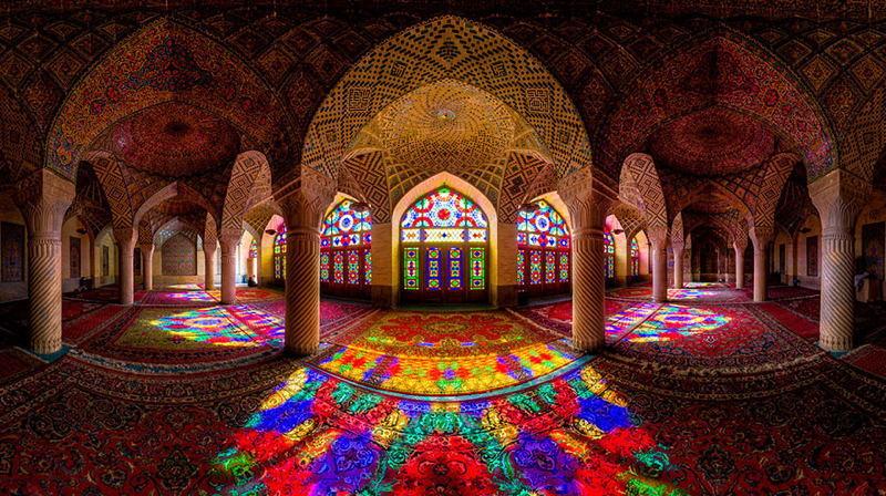 Beautiful Mosques Rainbow