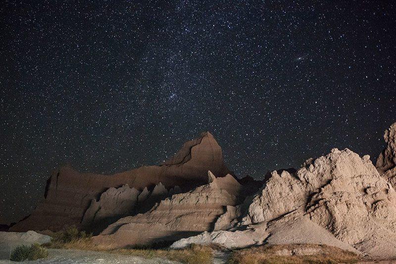 Badlands National Park at Night