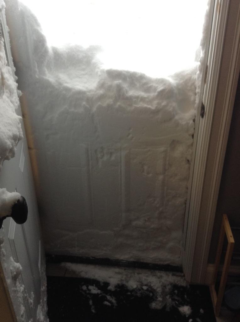 Snowfall trapped this Buffalo resident inside his home.