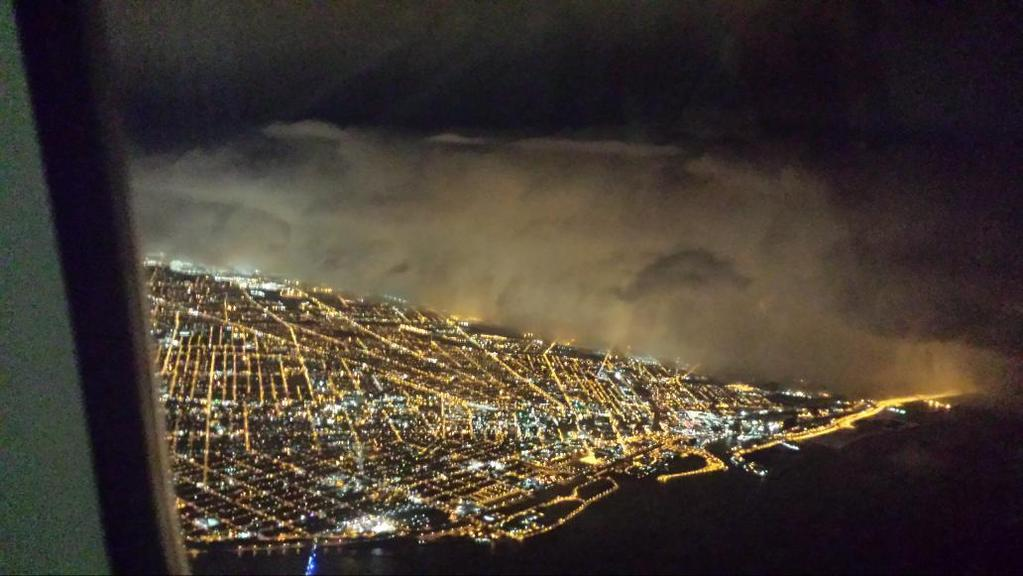 Buffalo blizzard as seen from above.