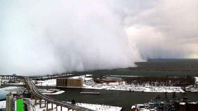 Behemoth storm clouds entering Buffalo.