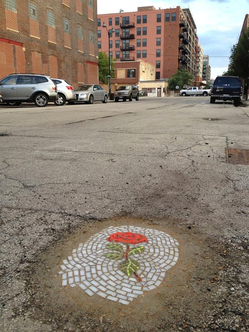 jim bachor chicago pothole flower