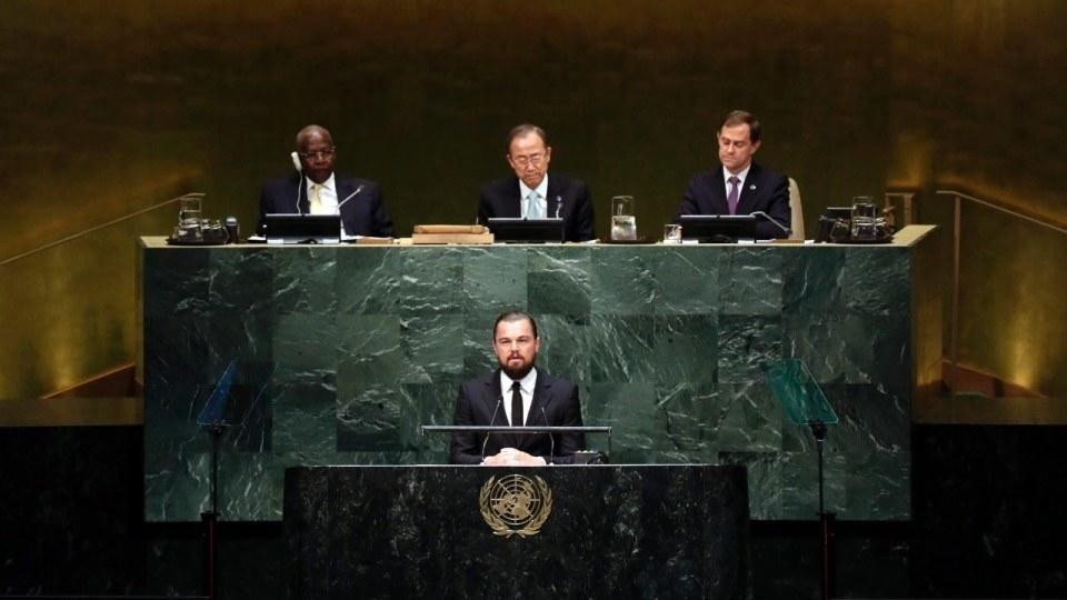 Leonardo DiCaprio Addresses 2014 Climate Change Summit