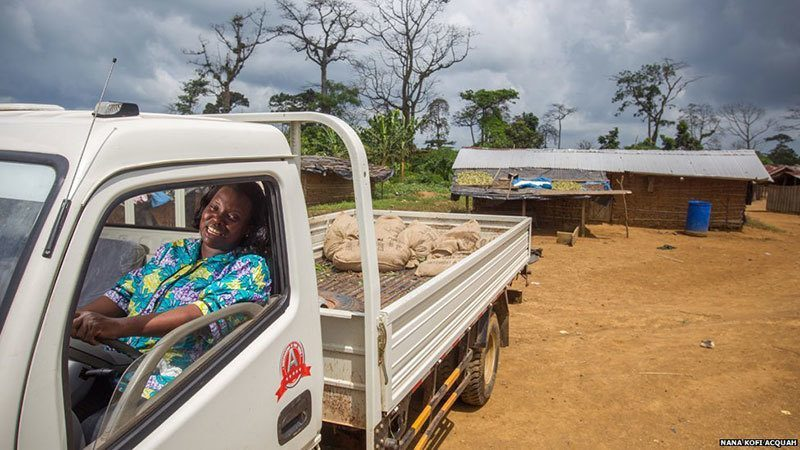 African Woman Works as Driver