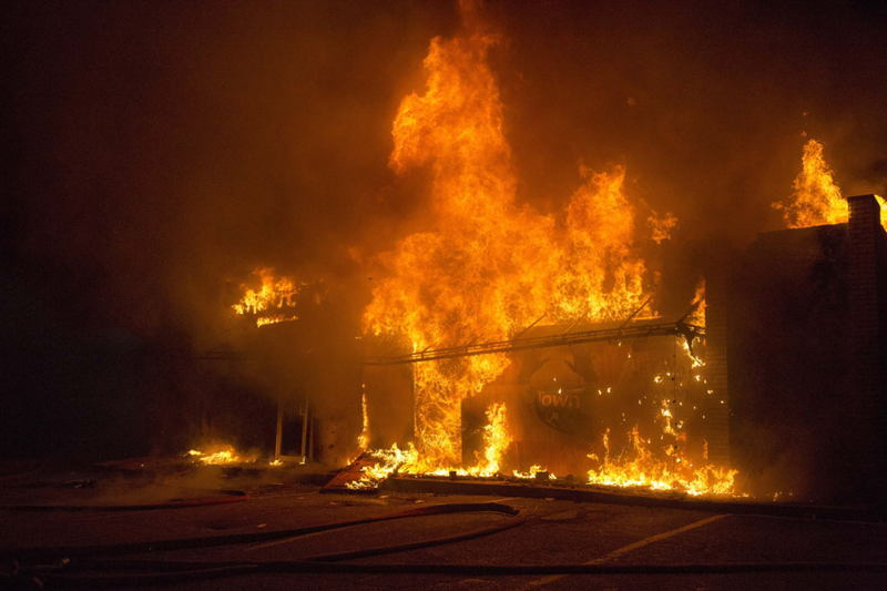 Ferguson Riots Business Burning