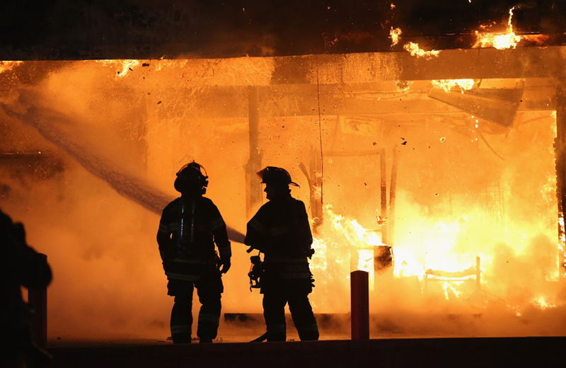 Ferguson Riots Firefighters
