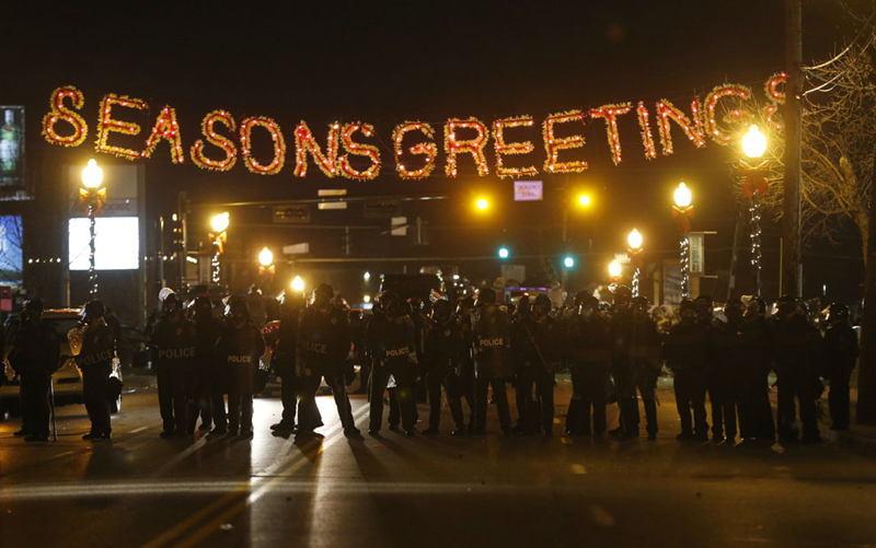 Ferguson Riots Seasons Greetings