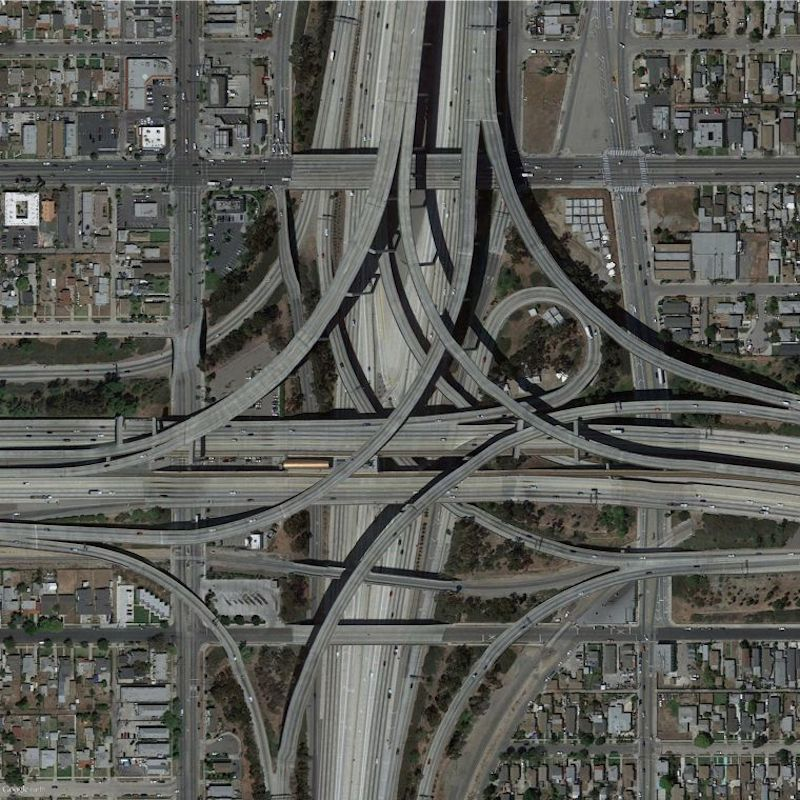 Google Earth Images Of The LA Freeways