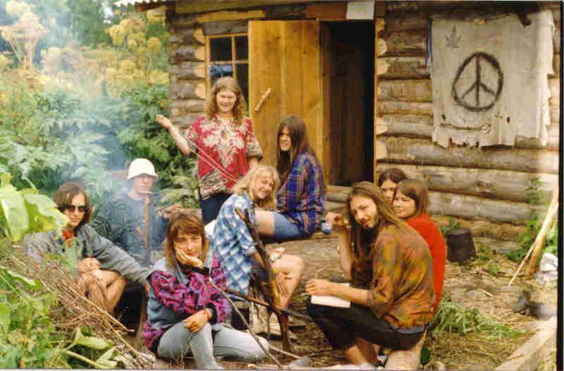 Hippies At A Cabin