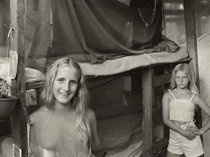 Two Girls At Taylor Camp Commune