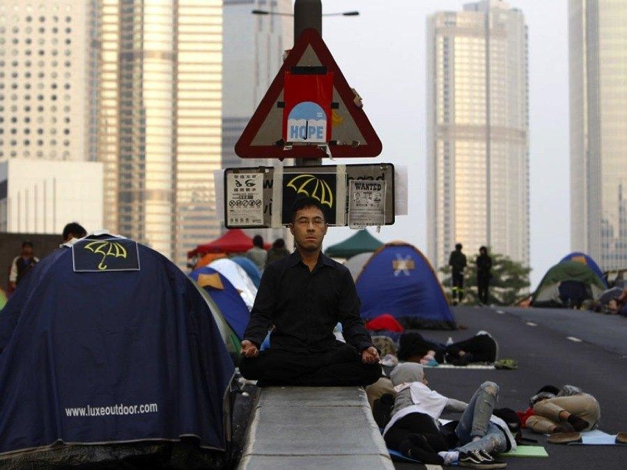 Hong Kong Crisis Public Places