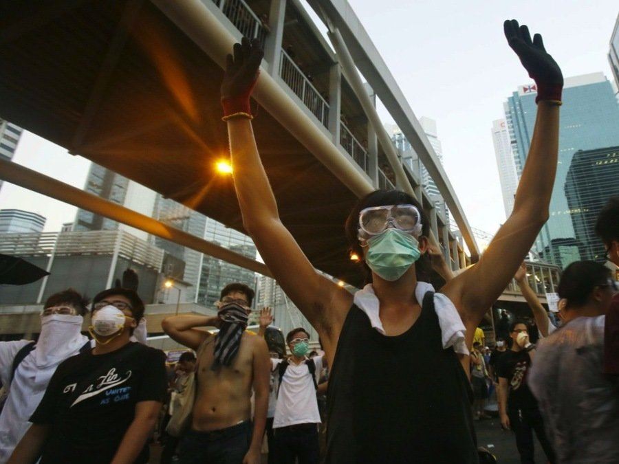 Hong Kong Crisis Street Protests