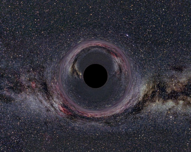 Black Hole Bent Light