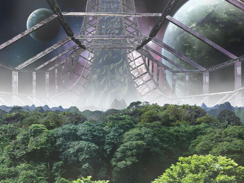 6 future homes for the human race for Outer space gardens