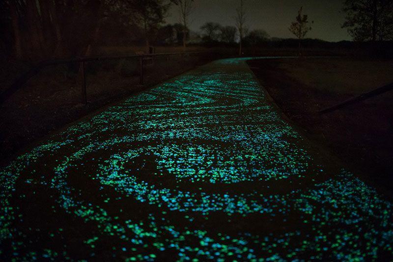 Glowing Bike Path