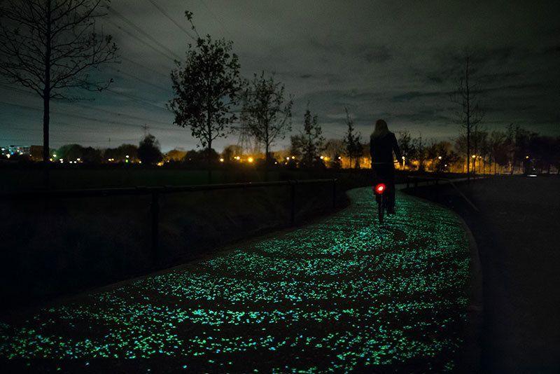 Bicyclist on Van Gogh Bike Path
