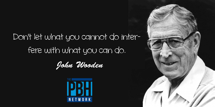 John Wooden Inspirational Quote