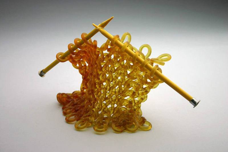 Carol Milne Knitting Glass