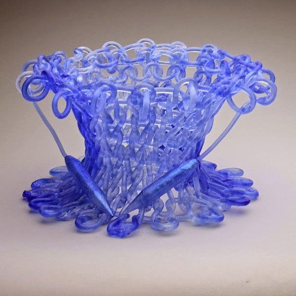 Knitted Glass Sculpture