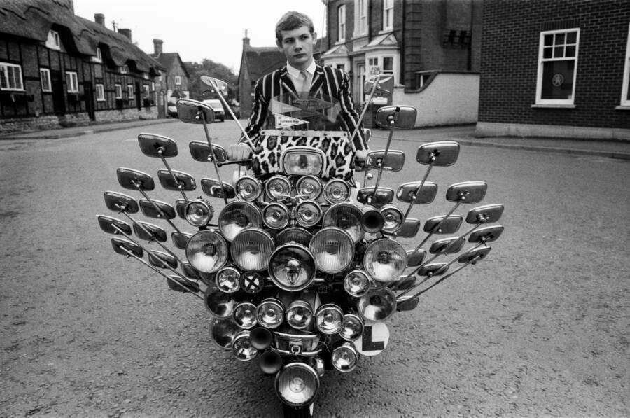 Mirrored British Mod Scooter