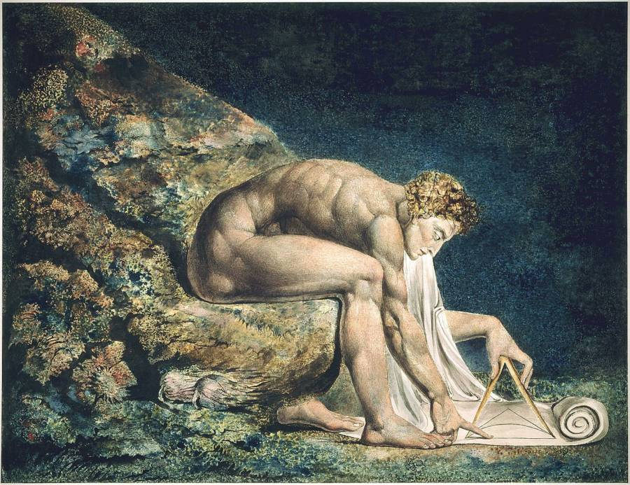 Painting Of Isaac Newton By William Blake