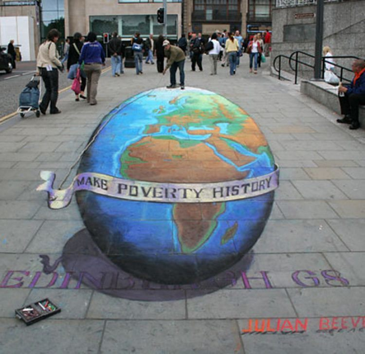 Optical Illusions 3D Chalk Earth