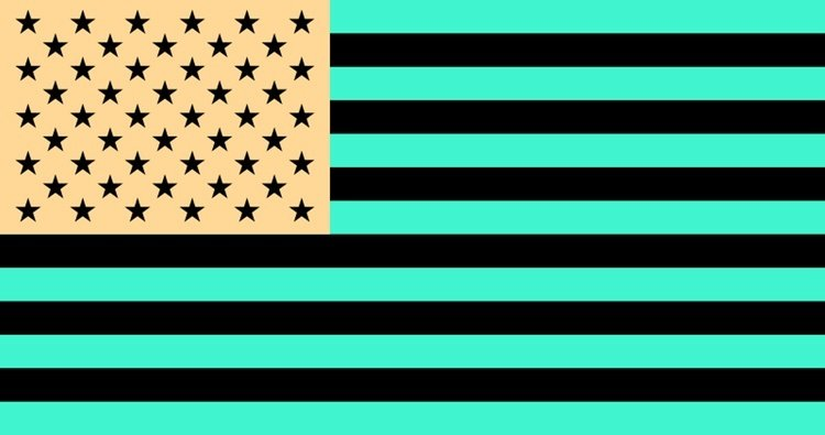 Optical Illusions Flag Afterimage