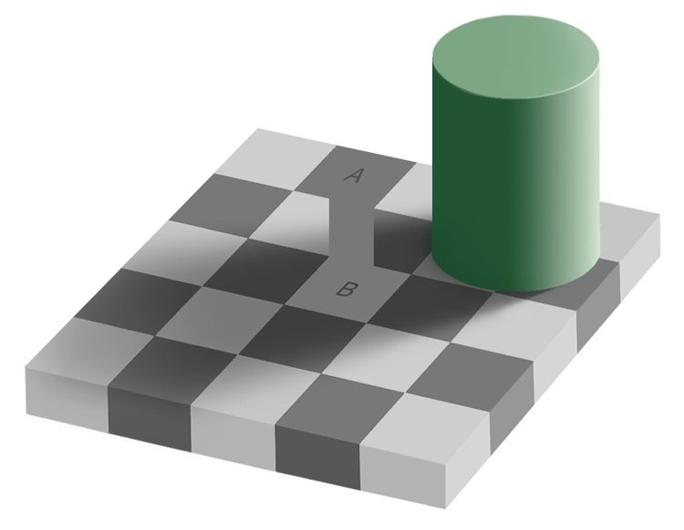 Optical Illusions Gray Square
