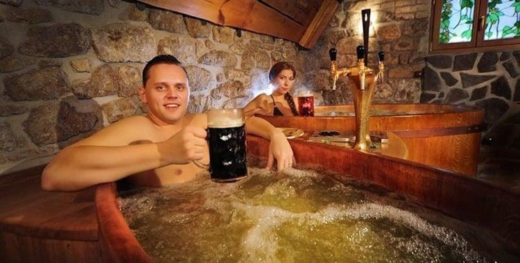 Strange Spa Treatments Beer Bath
